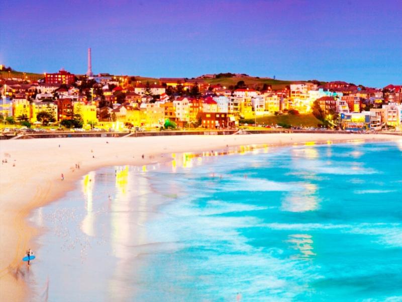 Vẻ đẹp bãi biển Bondi lúc chiều tà